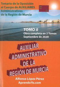 Libro oficial oposiciones Aprendoyo.com, Auxiliar Región de Murcia, tomo 2